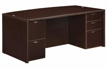 DMI Office Executive Bow Front Desk - 7004-37