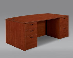 DMI Office Executive Bow Front Desk - 7005-37