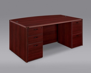 DMI Office Executive Bow Front Desk - 7006-37