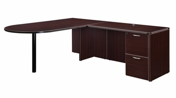 "DMI Office Executive Bullet L Shape with 48"" Left Return - 7004-4546EQ"