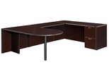 "DMI Office Executive Bullet U Shape with 48"" Bridge - 7004-647648E"