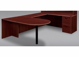 "DMI Office Executive Bullet U Shape with 48"" Bridge - 7006-647648E"