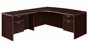 "DMI Office Executive CompuBow L Shape with 42"" Left Return - 7004-48CBQ"