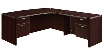 "DMI Office Executive CompuBow L Shape with 42"" Right Return - 7004-47CBQ"