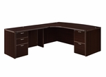 "DMI Office Executive CompuBow L Shape with 48"" Left Return - 7004-48ECB"