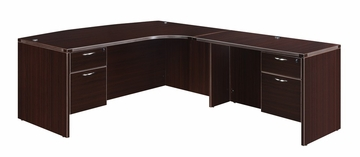 "DMI Office Executive CompuBow L Shape with 48"" Right Return - 7004-47ECBQ"