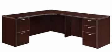 "DMI Office Executive Corner L Shape with 48"" Right Return - 7004-50E"