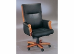 DMI Office Executive Desk Chair in Black Leather - Transitional Office Furniture - 6835-1103