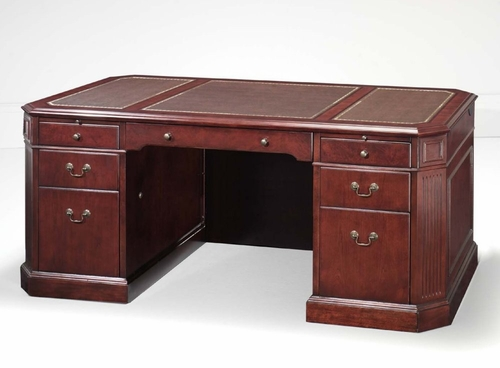 DMI Office Executive Desk with Leather Inlays in Top 7376-365