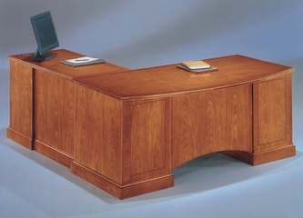 DMI Office Executive L-Shaped Desk with Right Return - Transitional Office Furniture - 7130-57