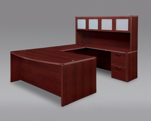 DMI Office Fairplex Mahogany Executive Office Package 12 - 7006-5758EB-428