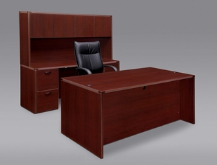 DMI Office Fairplex Mahogany Executive Office Package 2 - 7006-36-21-427