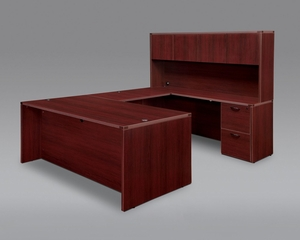 DMI Office Fairplex Mahogany Executive Office Package 5 - 7006-5758E-427