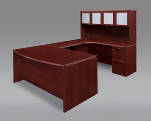 DMI Office Fairplex Mahogany Executive Office Package 6 - 7006-557B-428