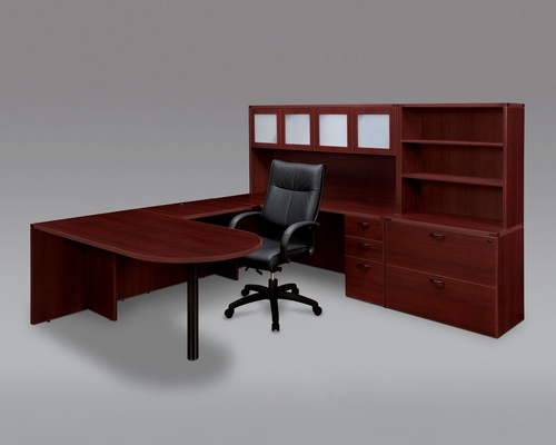 DMI Office Fairplex Mahogany Executive Office Package 8 - 7006-707G