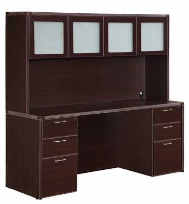 DMI Office Fairplex Mocha Executive Office Package 3 - 7004-21-428