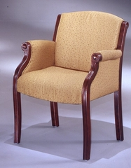 DMI Office Guest Chair in Soft Gold Fabric - Traditional Office Furniture - 6855-2101