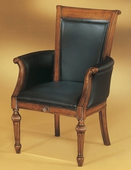 DMI Office High Back Guest Chair in Black Leather - 7480-821