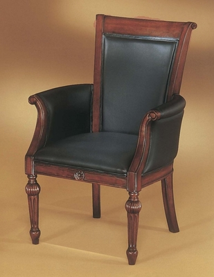 DMI Office High Back Guest Chair in Black Leather - 7684-821