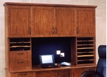 DMI Office Hutch with Full Return Crown Moulding and Organizers - Transitional Office Furniture - 7130-635