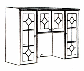 DMI Office Hutch with Glass Doors without Return Mouldings 7376-625