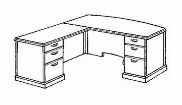 DMI Office L-Shaped Computer Desk with Left Return - Transitional Office Furniture - 7130-28
