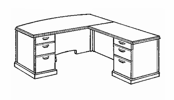 DMI Office L-Shaped Computer Desk with Right Return - Transitional Office Furniture - 7130-27
