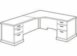 DMI Office L-Shaped CPU Corner Unit with Left Return - Transitional Office Furniture - 7130-76