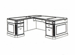 DMI Office Left Executive L-Shaped Desk 7376-48