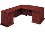 DMI Office Left Executive L-Shaped Desk with Bow Front - Executive Office Furniture / Home Office Furniture - 7302-68