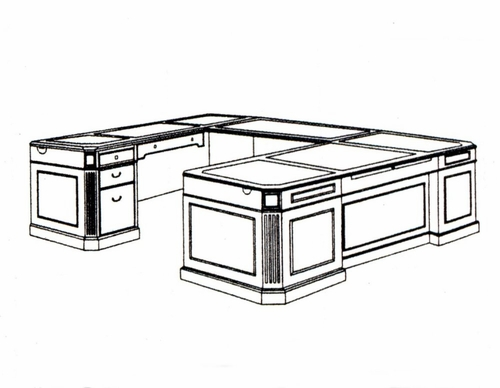 DMI Office Left Executive U-Shaped Desk 7376-58