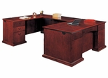 DMI Office Left Executive U-Shaped Desk - Executive Office Furniture / Home Office Furniture - 7302-58