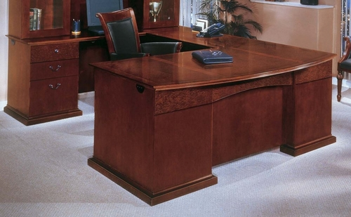 DMI Office Left Executive U-Shaped Desk with Bow Front - Executive Office Furniture / Home Office Furniture - 7302-78