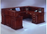 DMI Office Left U-Shaped Reception Desk - Traditional Office Furniture - 7990-69