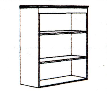 DMI Office Open Bookcase - Executive Office Furniture / Home Office Furniture - 7302-148