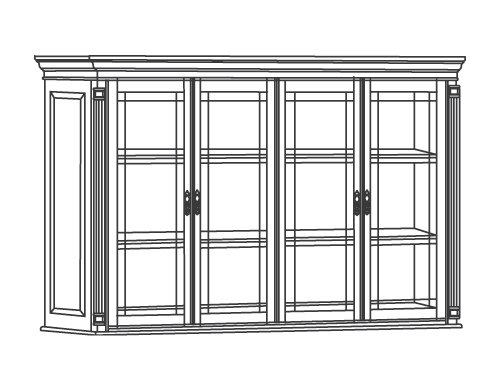 DMI Office Overhead Storage with Leaded Glass Doors - 7990-464