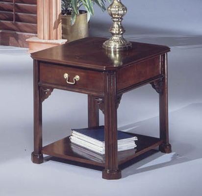 DMI Office Rectangular End Table in Mahogany - 7350-81
