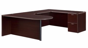 DMI Office Right Executive Corner Peninsula Bullet U Shape - 7004-647CP