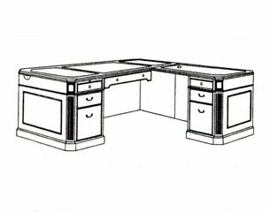 DMI Office Right Executive L-Shaped Desk 7376-47
