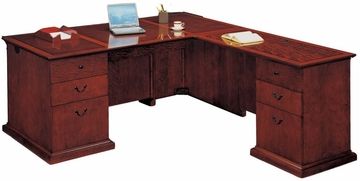 DMI Office Right Executive L-Shaped Desk - Executive Office Furniture / Home Office Furniture - 7302-47
