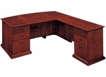 DMI Office Right Executive L-Shaped Desk with Bow Front - Executive Office Furniture / Home Office Furniture - 7302-67