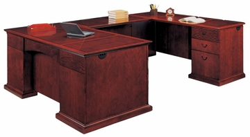 DMI Office Right Executive U-Shaped Desk - Executive Office Furniture / Home Office Furniture - 7302-57