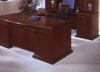 DMI Office Right Executive U-Shaped Desk with Bow Front - Executive Office Furniture / Home Office Furniture - 7302-77