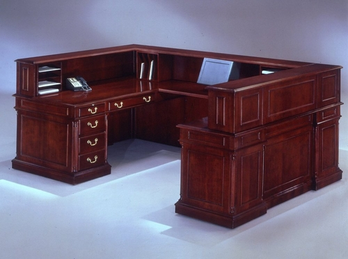 DMI Office Right U-Shaped Reception Desk - Traditional Office Furniture - 7990-68