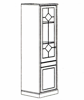 DMI Office Single Door Storage Wardrobe Cabinet 7376-05