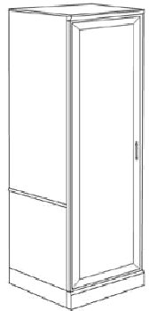 DMI Office Single Door Wardrobe - Executive Office Furniture / Home Office Furniture - 7130-05