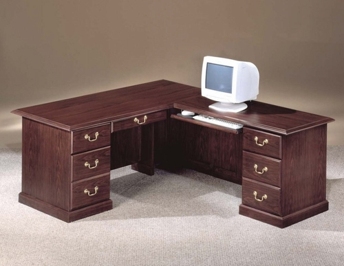 DMI Office Traditional 66 Inch Executive L-Shaped Desk with Right Return - 7462-48
