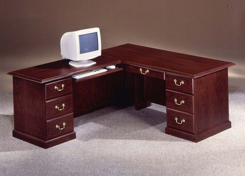 DMI Office Traditional 72 Inch Executive L-Shaped Desk with Left Return - 7462-38