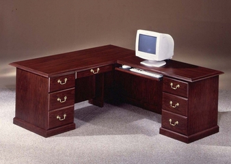 DMI Office Traditional 72 Inch Executive L-Shaped Desk with Right Return - 7462-37