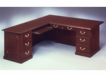 DMI Traditional Office 66 Inch Executive L-Shaped Desk with Left Return -7350-49